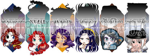 Magnetic Bookmarks Set of 6 by kuroitenshi13
