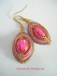 PINK LADY EARRINGS by zayday