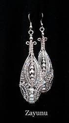Baton beaded drop earrings from Zayunu by Design by zayday