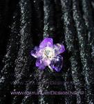 Amethyst dreadlock bloom cuff. by zayday