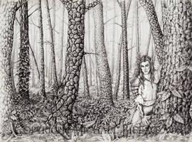The Elven Woods of Kaelnosti by mbielaczyc