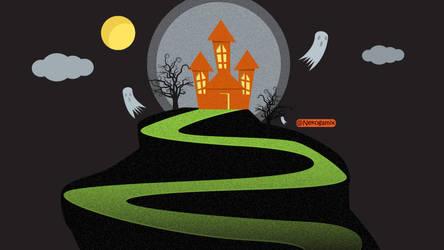 Flat Design Haunted house by Guyboy17