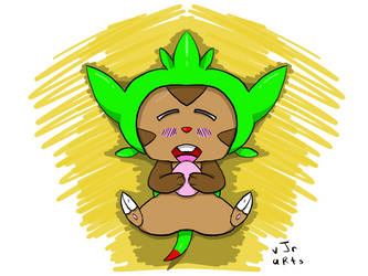 Hungry Chespin by Guyboy17