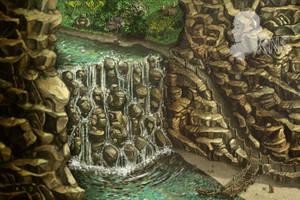 Down the waterfall by Vaelyane