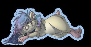 AT:Sleepy hammy by sanguine-tarsier