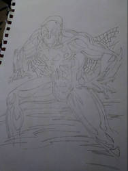 Spider-Man 2099 line art by ChrisE2003