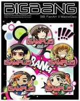 BIGBANG buttons by MaowDao