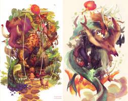 creature studies by Reluin