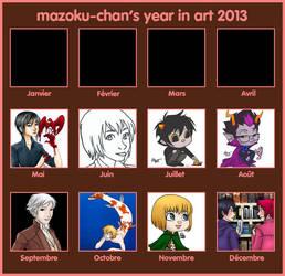 ART SUMMARY MEME mazvers2013 by mazoku-chan
