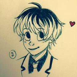 Cartoonish Haise by mazoku-chan