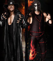 Kane and Undertaker by barrymk100