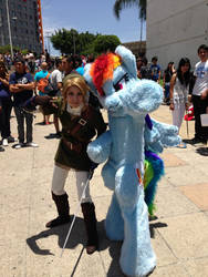 Rainbow Dash Fursuit  and Link Cosplay by Praquina