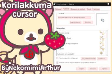 Korilakkuma cursor By NekomimiArthur by Nekomimiarthur