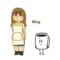 Mug is human by SkyMeowCute