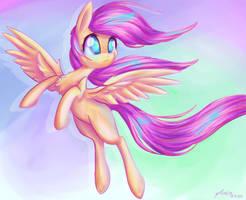 Colored Pony by artoftheghostie