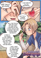 Nathaniel's Dilemma: page 1 [NicoH commission] by meowwithme
