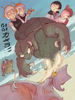 GOGO GAMERA!! by dernooks