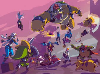 Super Smashing Bros by dernooks