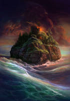 the island of mage by Atenebris