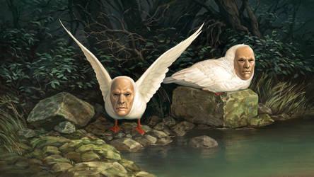 geese demons by Atenebris