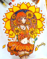 Chika x Sunflowers by SamichasArt