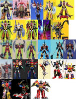Four-Piece Megazords by ChipmunkRaccoonOz