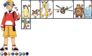 Jimmy Gold's Team in Pokemon Aura by ChipmunkRaccoonOz