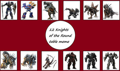 12 Autobot Knights Of The Round Table by ChipmunkRaccoonOz