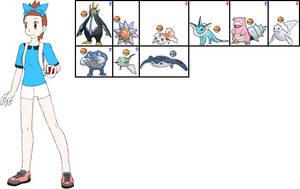 Verity's Team in Pokemon Aura by ChipmunkRaccoonOz