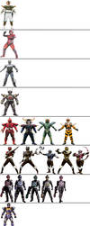 Evil Power Rangers and other villains by ChipmunkRaccoonOz