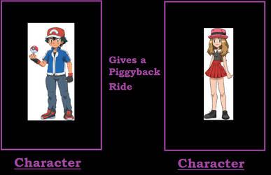 What If Ash Gives Serena a Piggyback ride by ChipmunkRaccoonOz