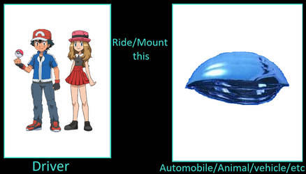 What if Ash and Serena rode Trimaxion Drone Ship? by ChipmunkRaccoonOz