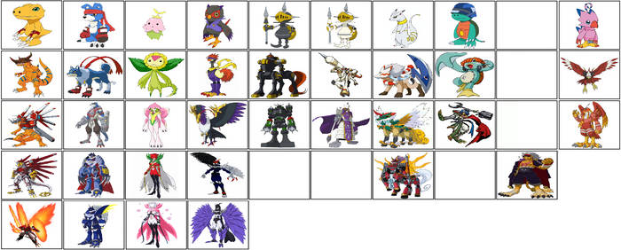 Digimon Data Squad's Digivolutions by ChipmunkRaccoonOz