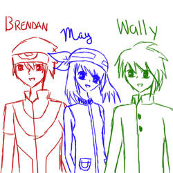 Brendan/May/Wally Sketch by RizunX