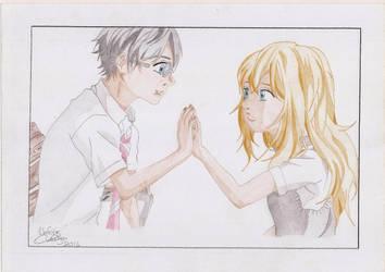 Arima And Kaori by Elioenai