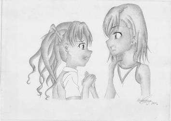 Mikoto Misaka And Kuroko Shirai by Elioenai