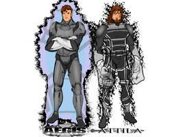 Aegis and Attila by kellkin