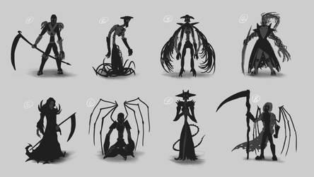 Thumbnail Sketches - Death by KeylesArt