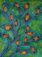 Orange Leaves by anitadunkl