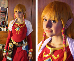 Zelda cosplay costume progress 2 by Haruhi-tyan