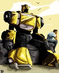Bumblebee and Sam by ninjaink