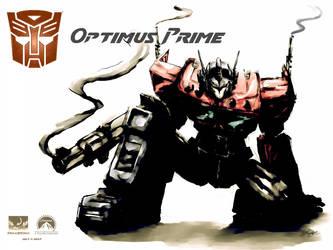 Optimus Wallpaper by ninjaink