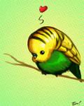 Budgie by ninjaink