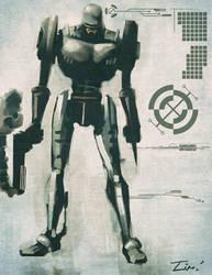 Industrial Robocop by ninjaink