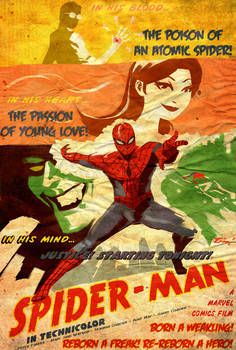 Swingin' Spider-Man by ninjaink