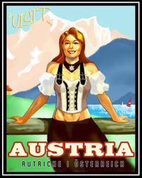 Austria Travel Poster by ninjaink