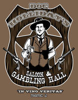 Doc Holliday Saloon by ninjaink