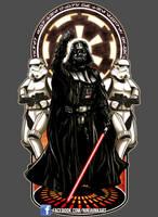 Vader Nouveau by ninjaink