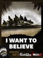 I Want to Believe in Godzilla by ninjaink