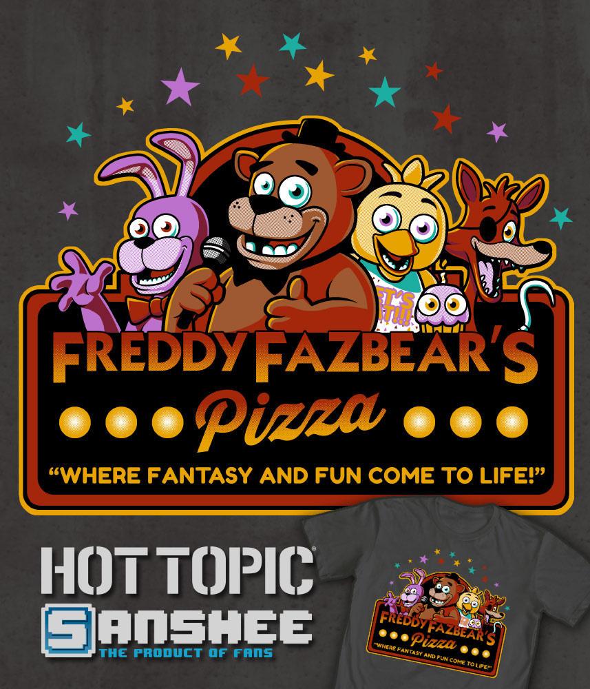 Freddy Fazbears Pizza by ninjaink